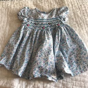 Other - Smocked Floral Baby Dress